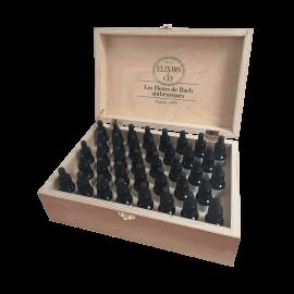 Дървена кутия с 38 единични еликсира на цветята д-р Бах